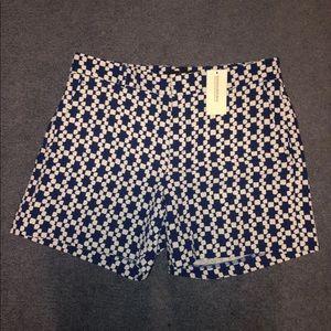 Banana Republic Blue and White Shorts